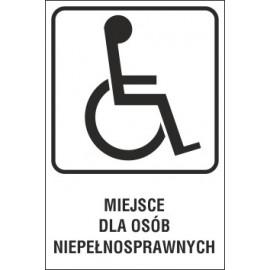 tabliczka - miejsce dla inwalidy MI03 miejsce dla osób niepełnosprawnych T-29