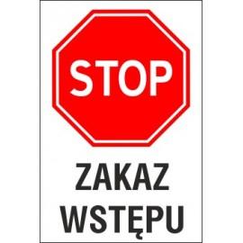 tabliczka STOP S01 zakaz wstępu
