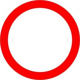 Naklejka B-1  Zakaz ruchu w obu kierunkach