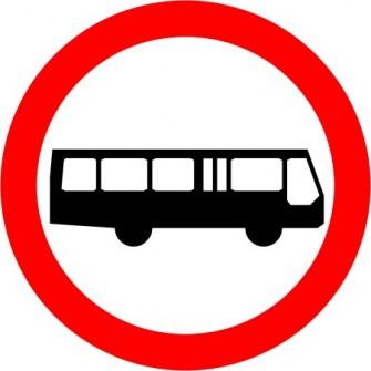 Naklejka B-3a Zakaz wjazdu autobusów