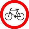 Naklejka B-9 Zakaz wjazdu rowerów