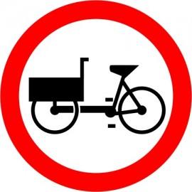 Naklejka B-11 Zakaz wjazdu rowerów wielośladowych