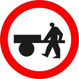 Naklejka B-12 zakaz wjazdu wózków ręcznych