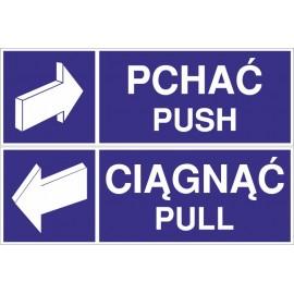 Naklejki Ciągnąć-Pchać push-pull