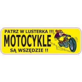 Naklejka patrz w lusterka motocykle są wszędzie G2