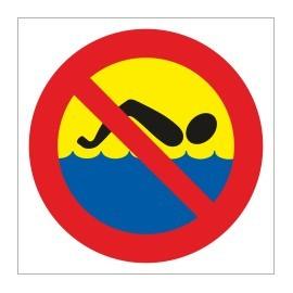 naklejka zakaz kąpieli