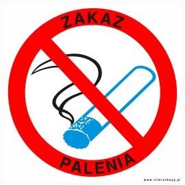 naklejka INZP7 - zakaz palenia papierosów