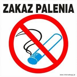 naklejka INZP8 - zakaz palenia