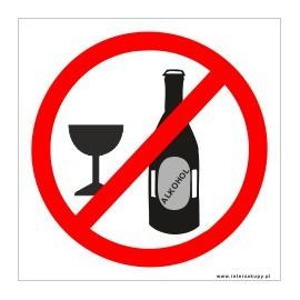 naklejka INZ09 -  zakaz spożywania alkoholu