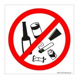 naklejka zakaz śmiecenia
