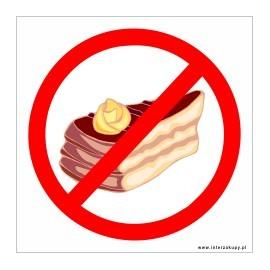 naklejka INL04 - zakaz wchodzenia z jedzeniem