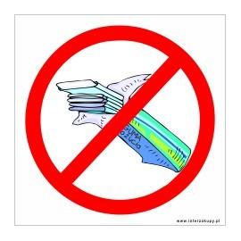 naklejka INL05 - zakaz wchodzenia z jedzeniem