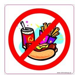 naklejka INL08 - zakaz wchodzenia z jedzeniem