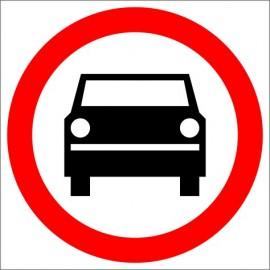 Znak drogowy B-3 Zakaz wjazdu pojazdów silnikowych z wyjątkiem motocykli jednośladowych