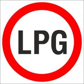 B-1a Zakaz ruchu pojazdów napędzanych LPG