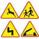 Naklejki Znaki ostrzegawcze