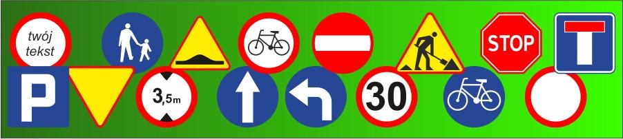 Naklejki - znaki drogowe