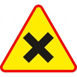 Naklejka znak ostrzegawczy A-5 Skrzyżowanie dróg równorzędnych