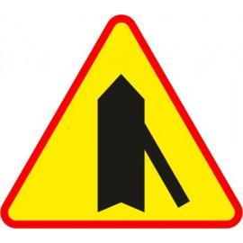 Naklejka znak ostrzegawczy A-6d Wlot drogi jednokierunkowej z prawej strony