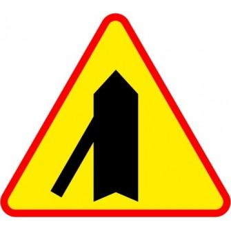 Naklejka znak ostrzegawczy A-6e Wlot drogi jednokierunkowej z lewej strony