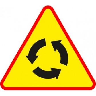 Naklejka znak ostrzegawczy A-8 Skrzyżowanie o ruchu okrężnym