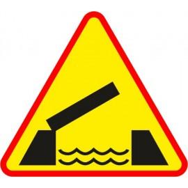 Naklejka znak ostrzegawczy A-13 Ruchomy most