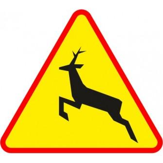 Naklejka znak ostrzegawczy A-18b Dzikie zwierzęta