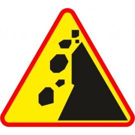 Naklejka znak ostrzegawczy A-25 Spadające odłamki skalne