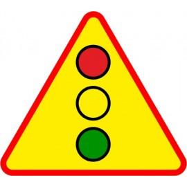 Naklejka znak ostrzegawczy A-29 Uwaga Sygnały świetlne