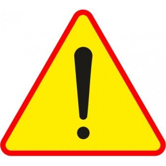 Naklejka znak ostrzegawczy A-30 Inne niebezpieczeństwo