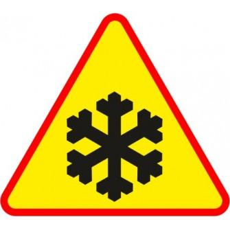 Naklejka znak ostrzegawczy A-32 Oszronienie jezdni