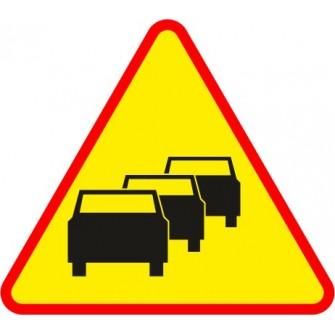 Naklejka znak ostrzegawczy A-33 Zator drogowy