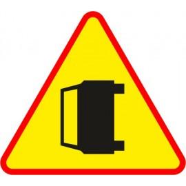 Naklejka znak ostrzegawczy A-34 Wypadek drogowy