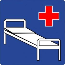 Naklejka znak informacyjny D-21 szpital