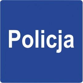 Naklejka znak informacyjny D-21a Policja