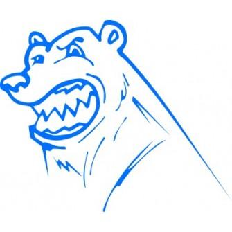 Naklejka wycinana N21 niedźwiedź
