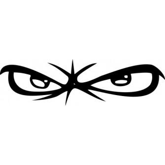 Naklejka wycinana N23 oczy