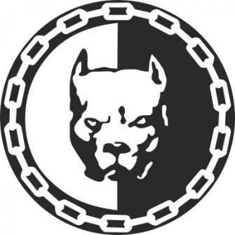 Naklejka wycinana N29 pitbull 02