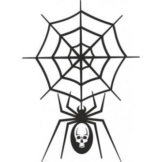 Naklejka wycinana N57 pająk O