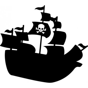 Naklejka wycinana N81 statek O