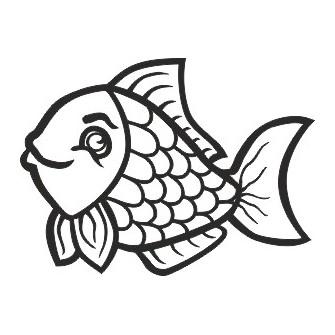 Naklejka wycinana N90 ryba O