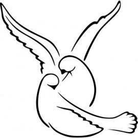 Naklejka wycinana N92 gołębie P