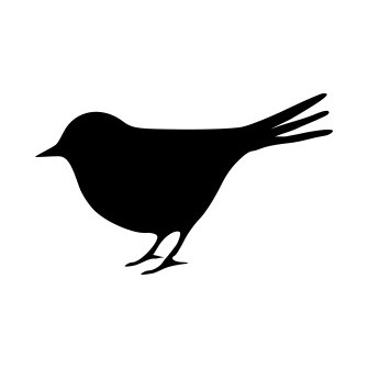 Naklejka wycinana N98 ptak O