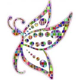 Naklejka ścienna dekoracyjna D08 motyle C