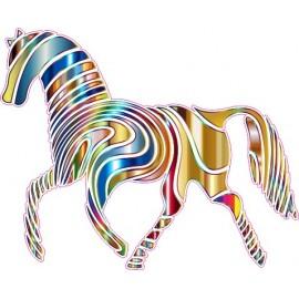 Naklejka ścienna dekoracyjna D16 koń O