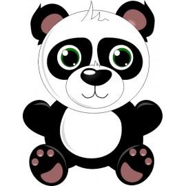 Naklejka ścienna dekoracyjna D23 miś panda O