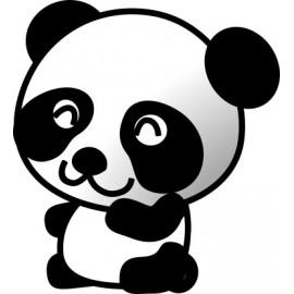 Naklejka ścienna dekoracyjna D24 miś panda O