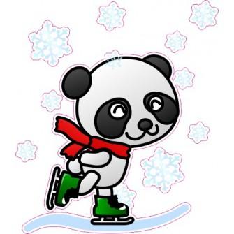 Naklejka ścienna dekoracyjna D25 miś panda O