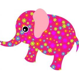 Naklejka ścienna dekoracyjna D32 słoń O
