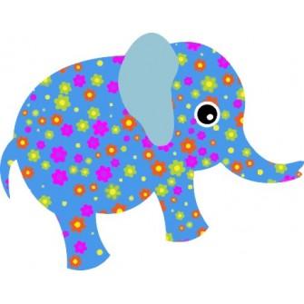Naklejka ścienna dekoracyjna D34 słoń O